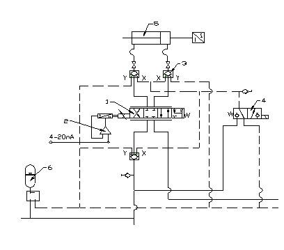 蓄能器 图四 液压伺服比例系统控制料流阀的原理图图片