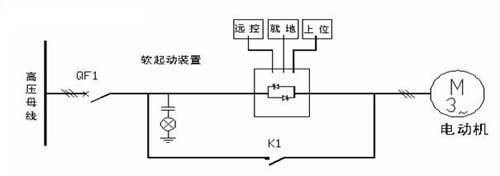 图1晶闸管串联软起动主回路接线图