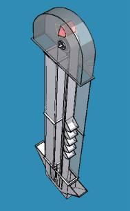 机械输送-斗式提升机13603042128白铁工程制作商-通风图片
